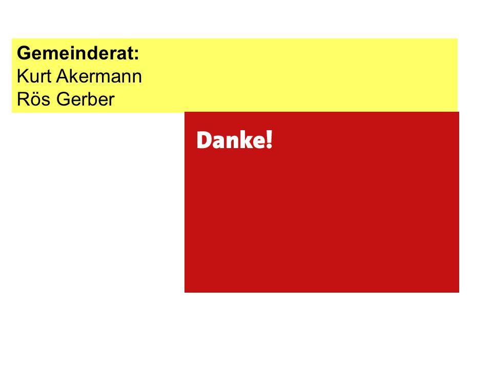 Gemeinderat: Kurt Akermann Rös Gerber