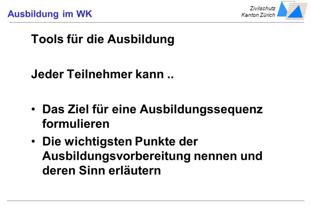 Zivilschutz Kanton Zürich HandzettelLernzielAusbStufenProgrammSinne einsetzen Feedback
