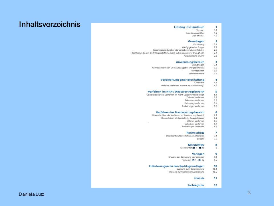 2 Inhaltsverzeichnis Daniela Lutz