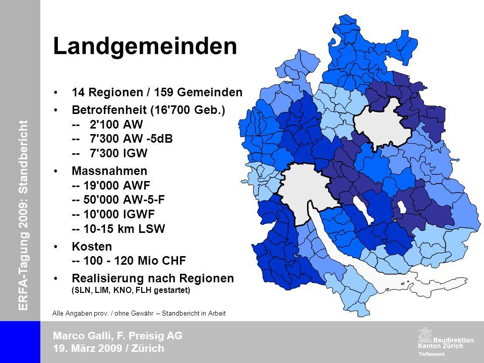 ERFA-Tagung 2009: Standbericht Marco Galli, F.Preisig AG 19.