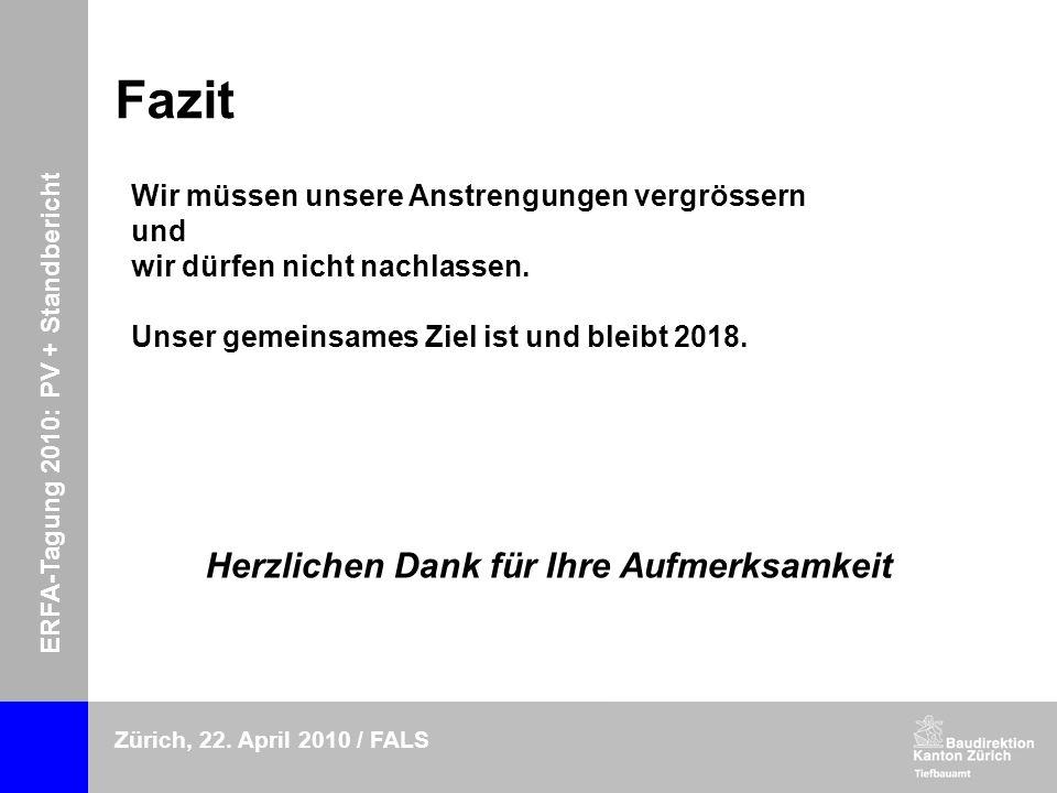 ERFA-Tagung 2010: PV + Standbericht Zürich, 22.