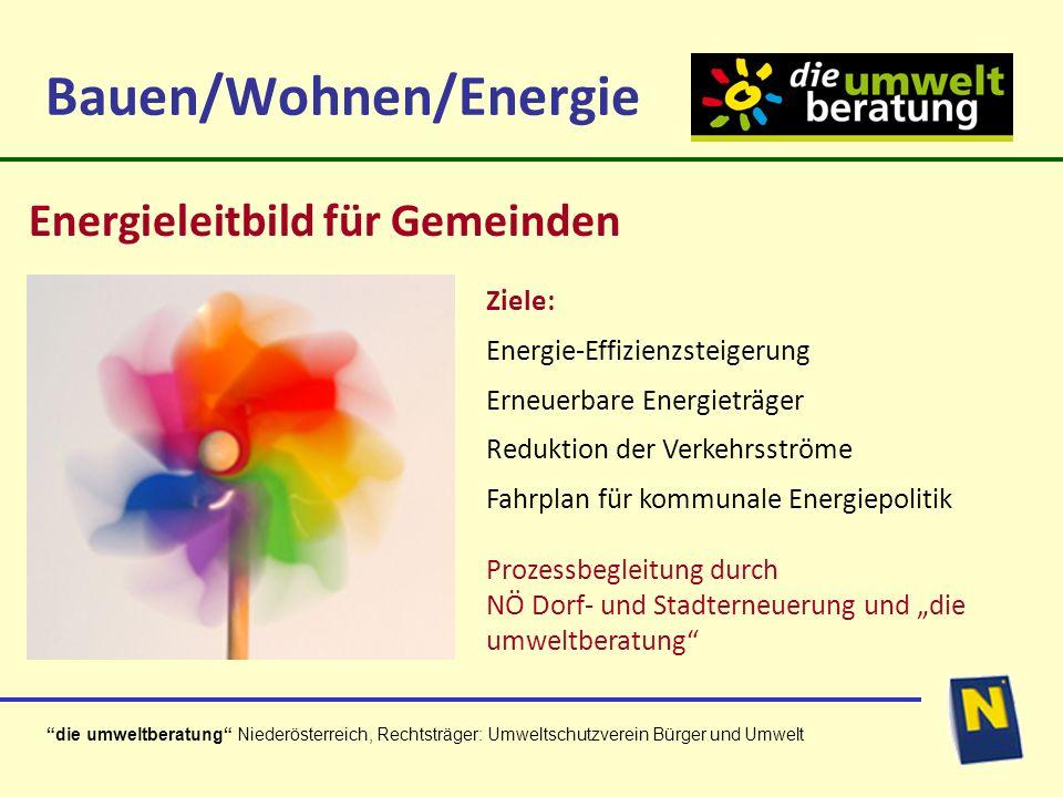 die umweltberatung Niederösterreich, Rechtsträger: Umweltschutzverein Bürger und Umwelt Aufmerksamkeit Danke für die