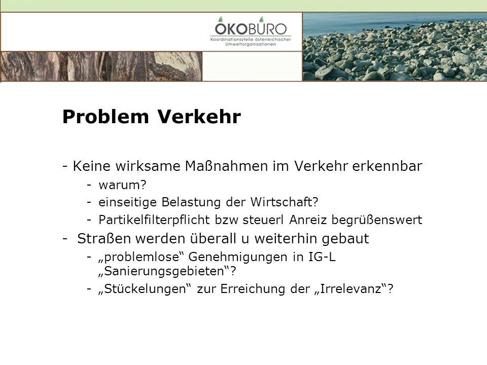Problem Verkehr - Keine wirksame Maßnahmen im Verkehr erkennbar -warum.