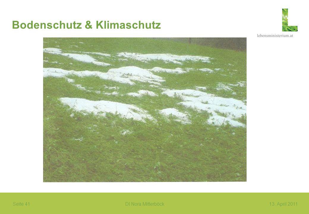 Seite 41 DI Nora Mitterböck13. April 2011 Bodenschutz & Klimaschutz