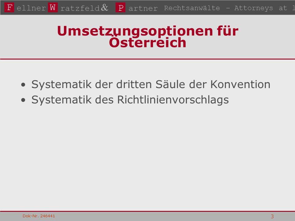 FW P ellner ratzfeld & artner Rechtsanwälte – Attorneys at law Dok-Nr.
