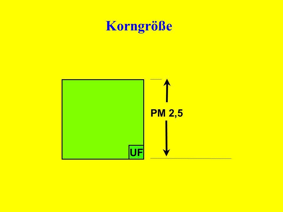 UF PM 2,5 Korngröße