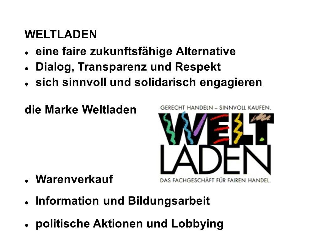 Strategieziele des Weltladens bis 2010 Der WL leistet Info- und Bildungsarbeit in der Gemeinde / in der Stadt – Lernort WL.