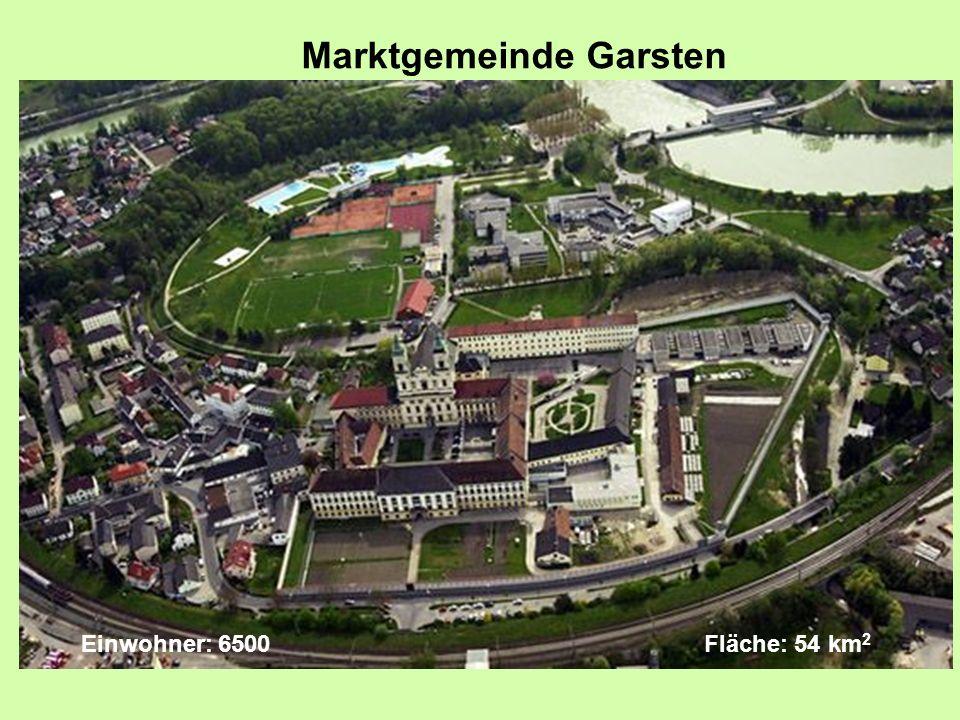 Einwohner: 6500 Fläche: 54 km 2 Marktgemeinde Garsten
