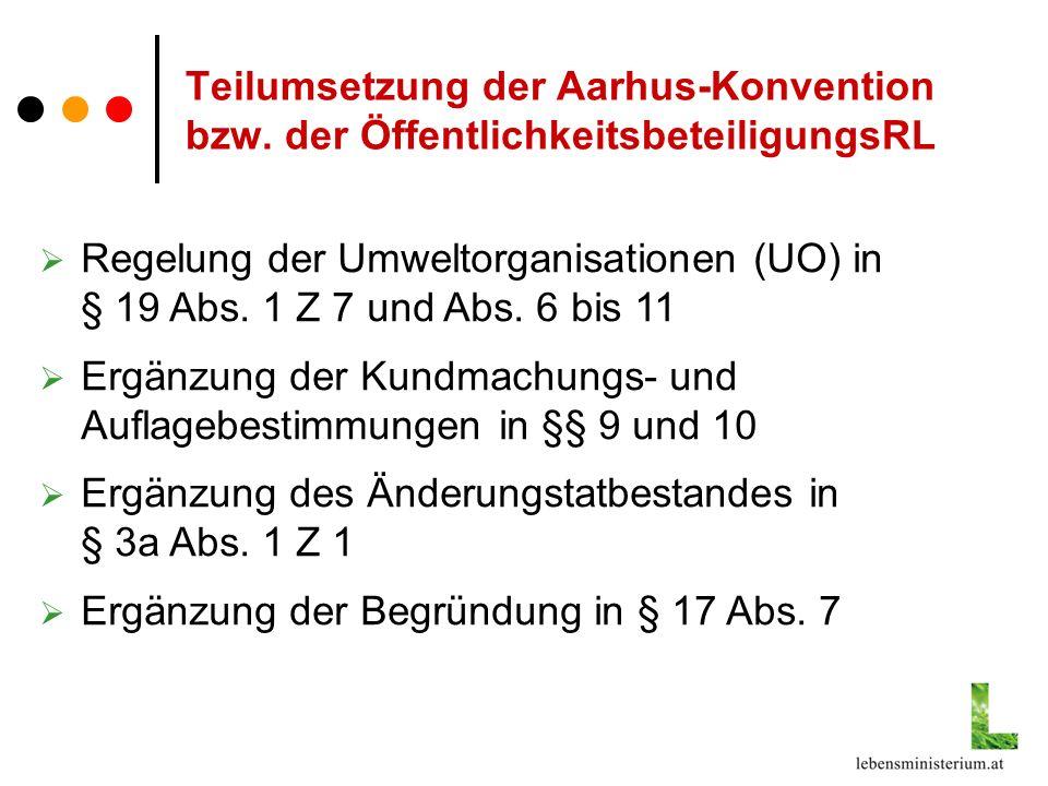Verfahren gem.§ 19 Abs.