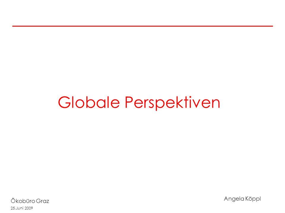 Angela Köppl Ökobüro Graz 25.Juni 2009 Globale Perspektiven