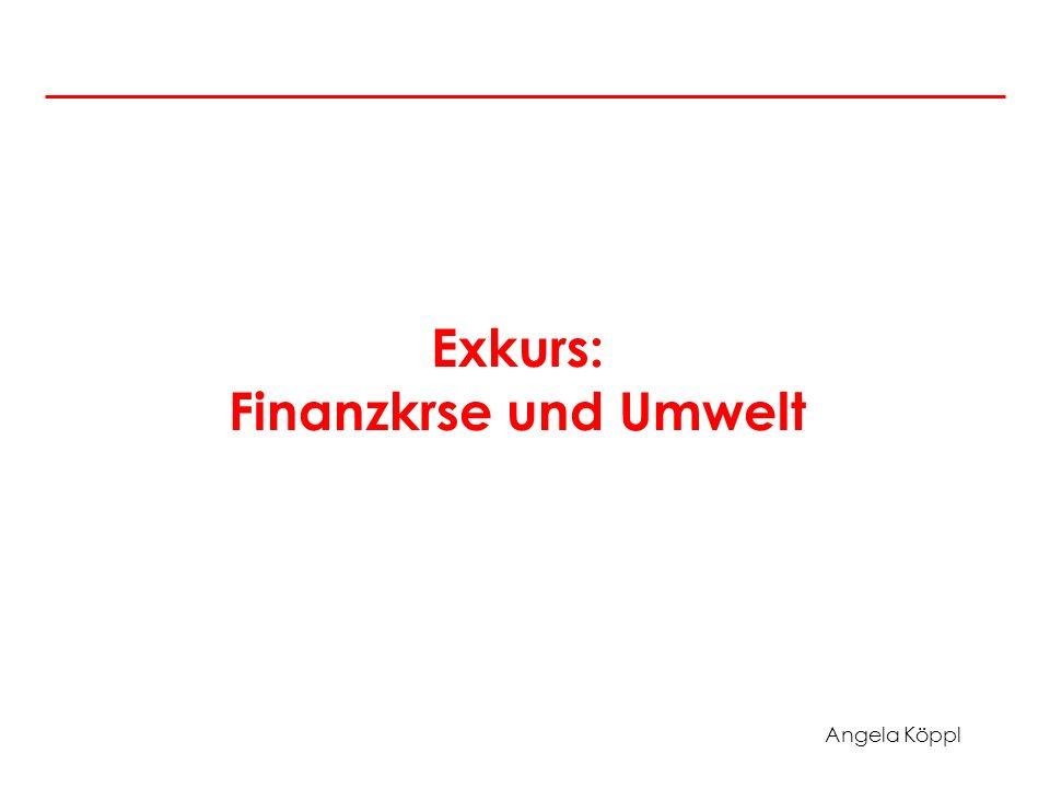 Angela Köppl Exkurs: Finanzkrse und Umwelt