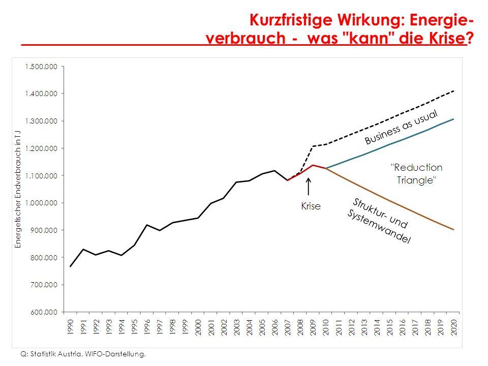 Angela Köppl Kurzfristige Wirkung: Energie- verbrauch - was