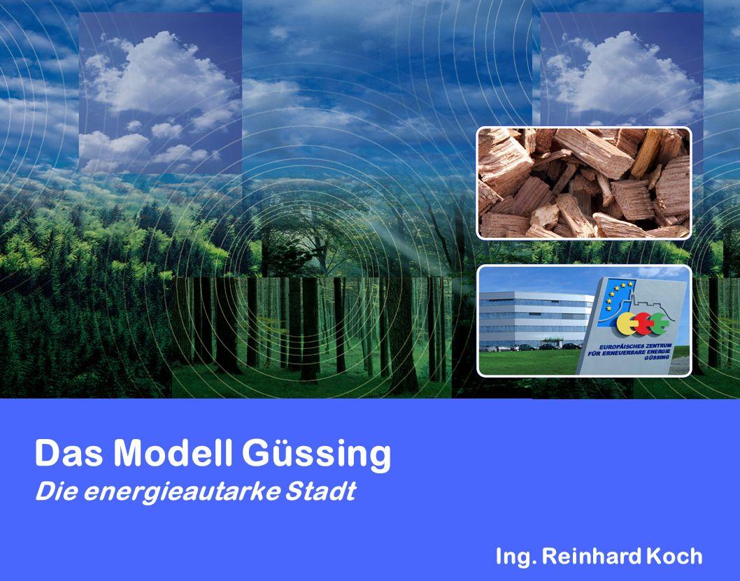 Das Modell Güssing Die energieautarke Stadt Ing. Reinhard Koch