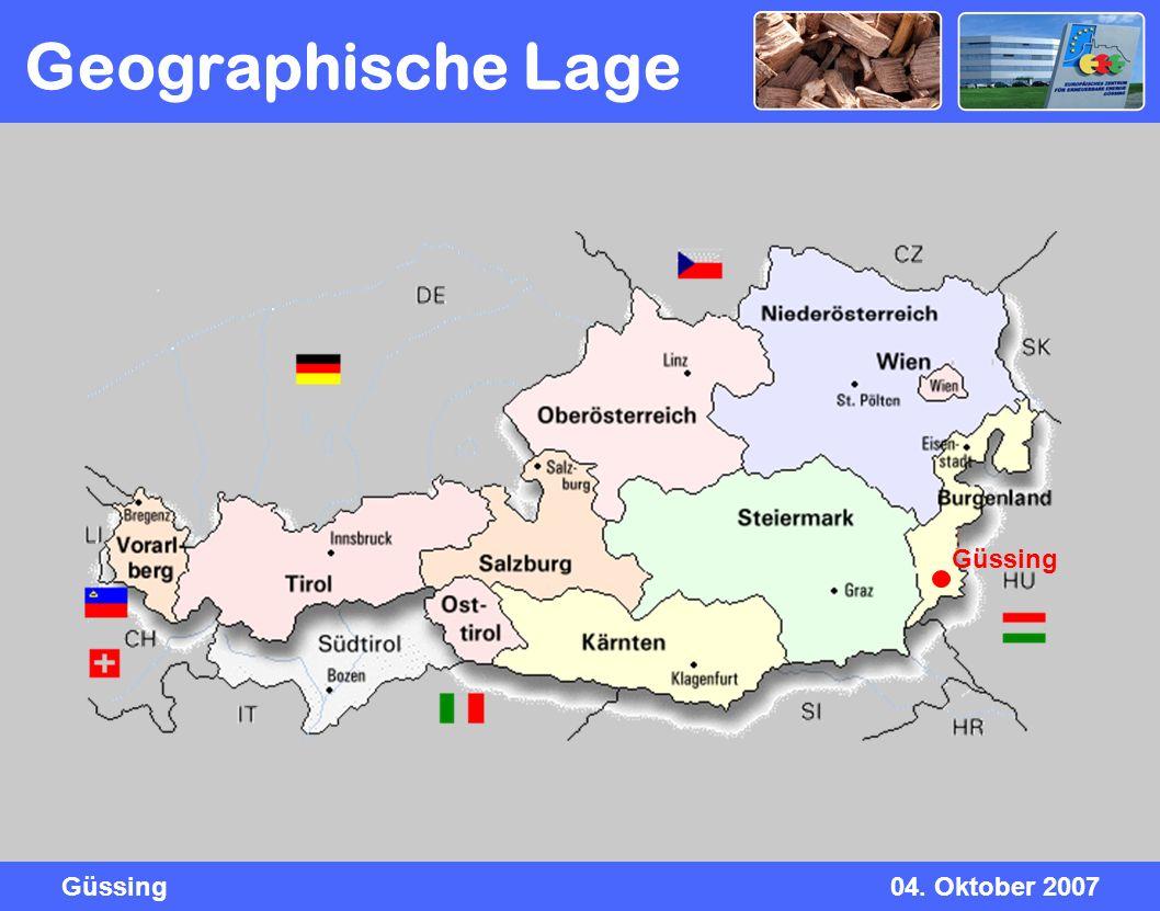 Güssing04. Oktober 2007 Geographische Lage Güssing