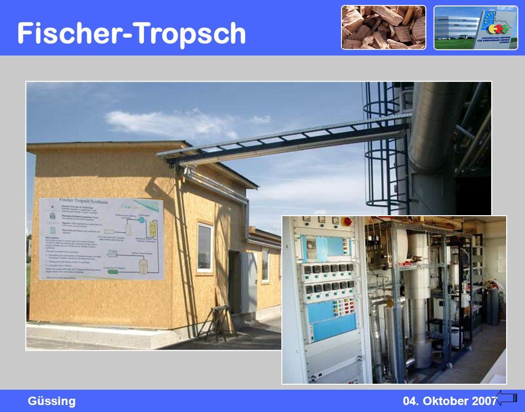 Güssing04. Oktober 2007 Fischer-Tropsch