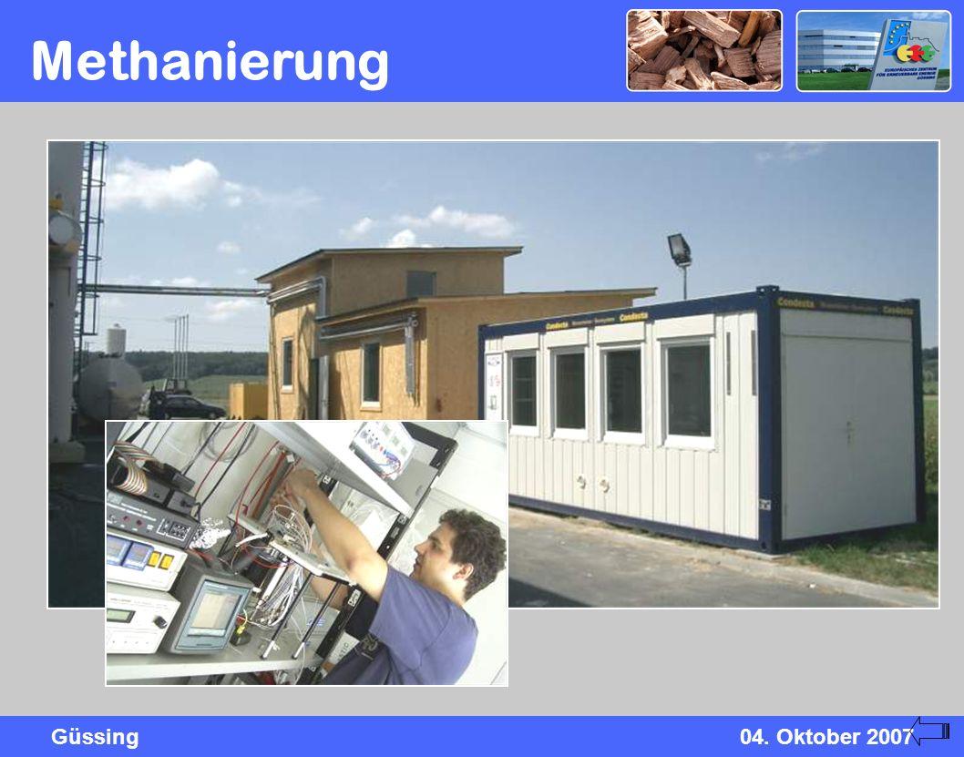 Güssing04. Oktober 2007 Methanierung
