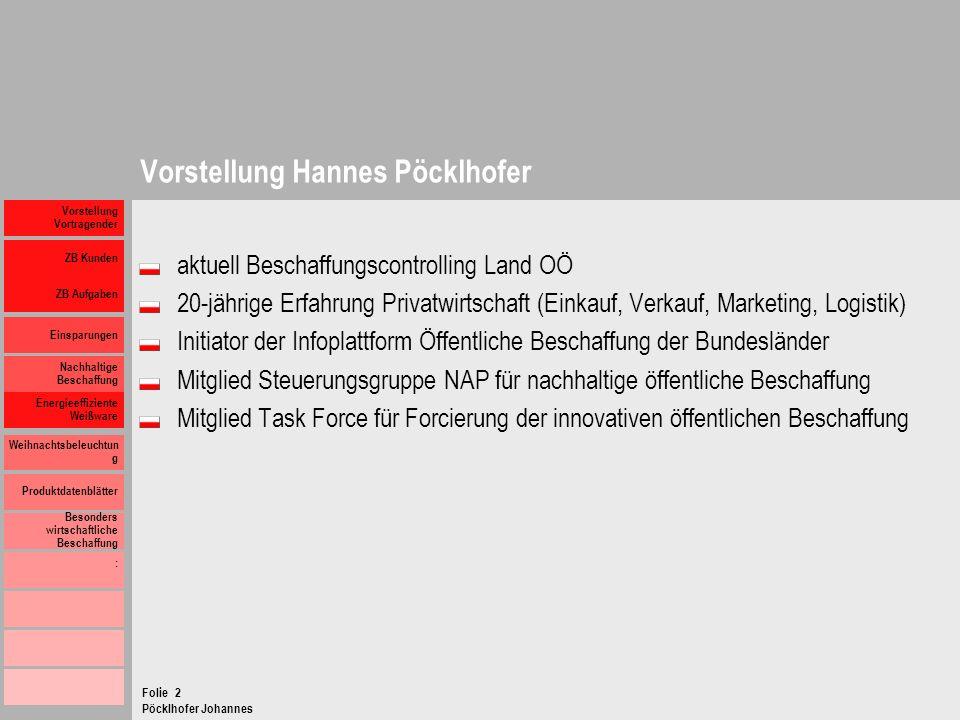 Pöcklhofer Johannes Folie Vorstellung Vortragender Einsparungen Nachhaltige Beschaffung Weihnachtsbeleuchtun g Produktdatenblätter Besonders wirtschaf