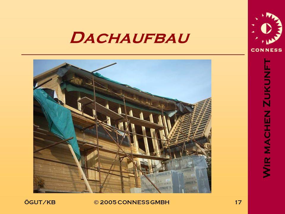 Wir machen Zukunft ÖGUT/KB© 2005 CONNESS GMBH17 Dachaufbau