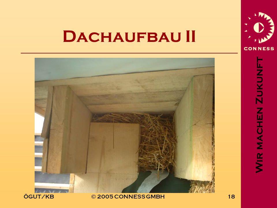 Wir machen Zukunft ÖGUT/KB© 2005 CONNESS GMBH18 Dachaufbau II