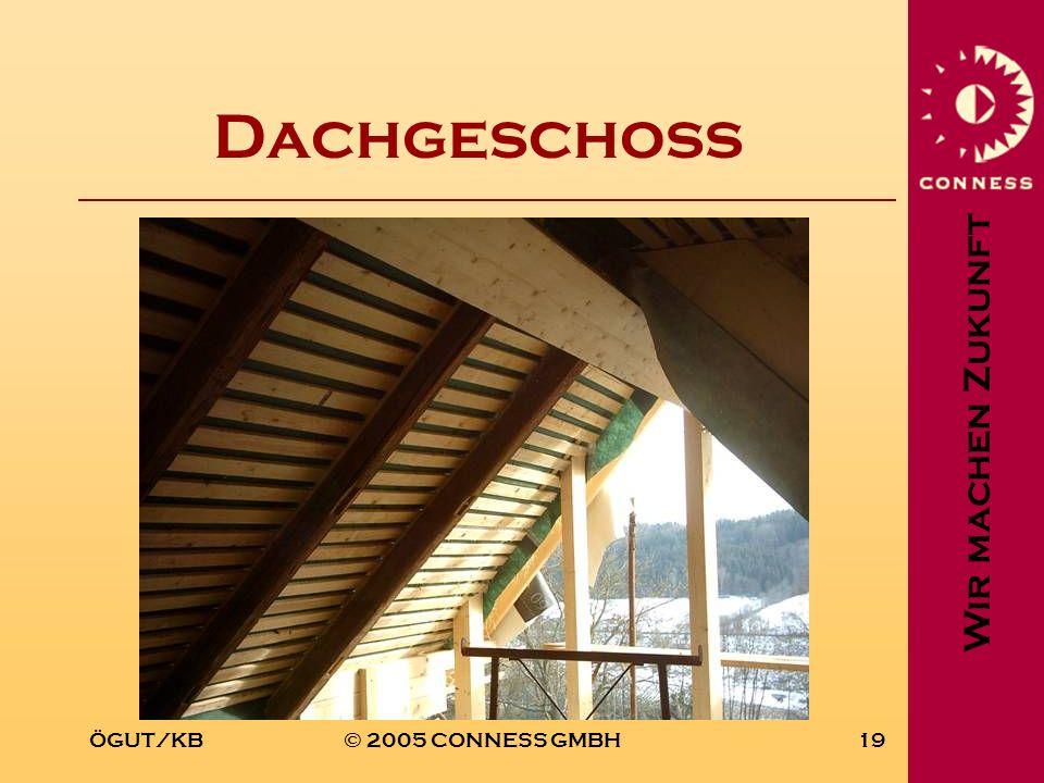 Wir machen Zukunft ÖGUT/KB© 2005 CONNESS GMBH19 Dachgeschoss