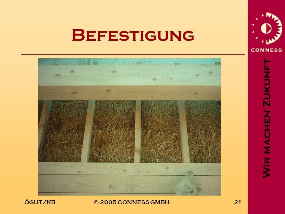 Wir machen Zukunft ÖGUT/KB© 2005 CONNESS GMBH21 Befestigung