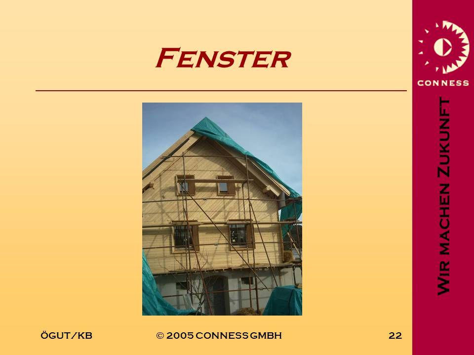 Wir machen Zukunft ÖGUT/KB© 2005 CONNESS GMBH22 Fenster