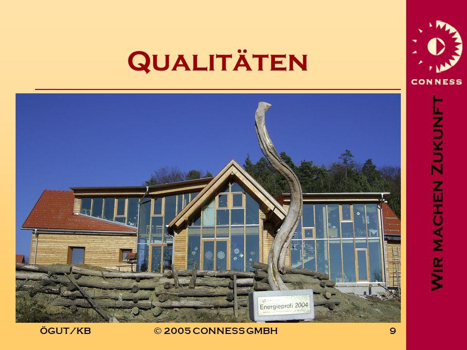 Wir machen Zukunft ÖGUT/KB© 2005 CONNESS GMBH9 Qualitäten