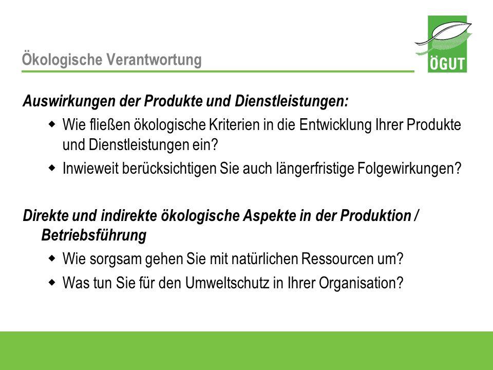 Darstellung im Nachhaltigkeitsbericht: Fragen der Produktentwicklung, wesentliche Umweltaspekte herausgestellt.