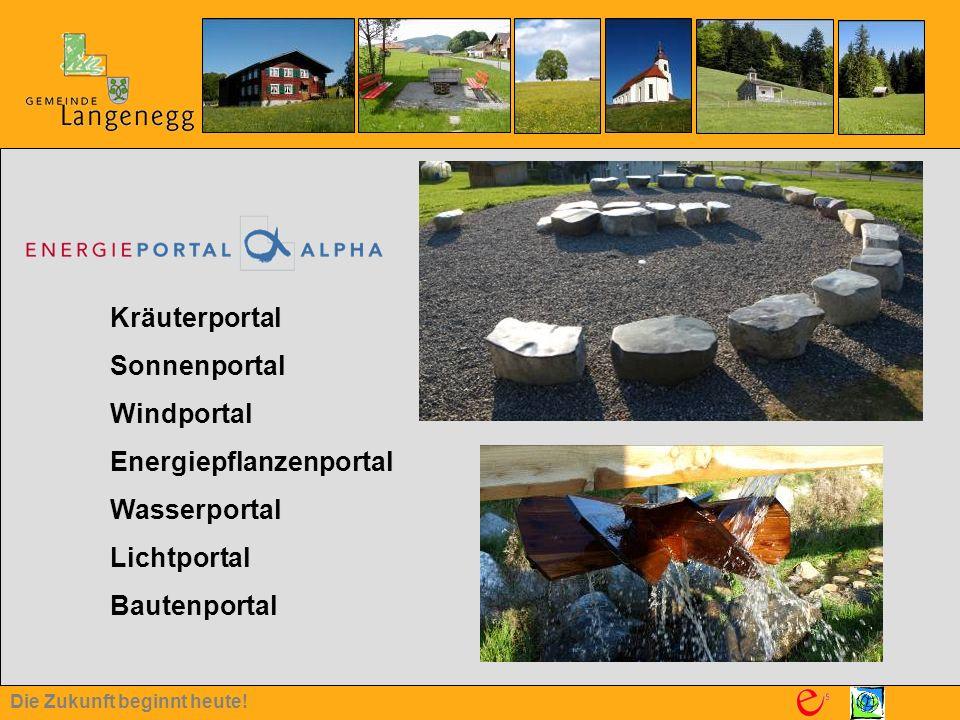 Kräuterportal Sonnenportal Windportal Energiepflanzenportal Wasserportal Lichtportal Bautenportal