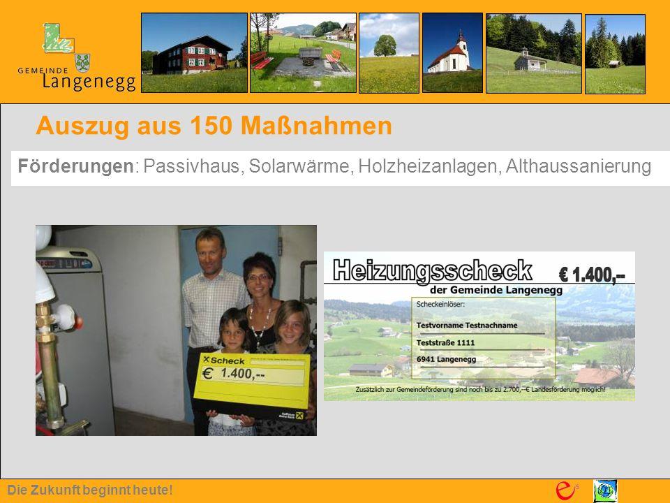 Auszug aus 150 Maßnahmen Förderungen: Passivhaus, Solarwärme, Holzheizanlagen, Althaussanierung