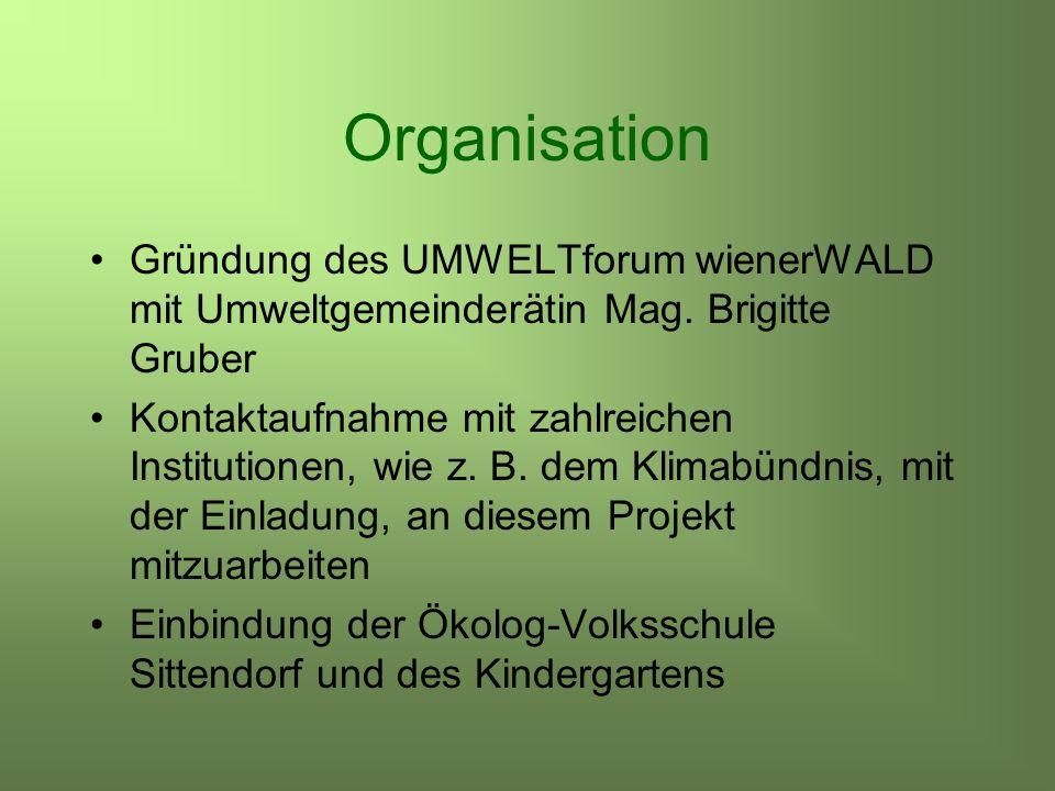 Organisation Gründung des UMWELTforum wienerWALD mit Umweltgemeinderätin Mag.