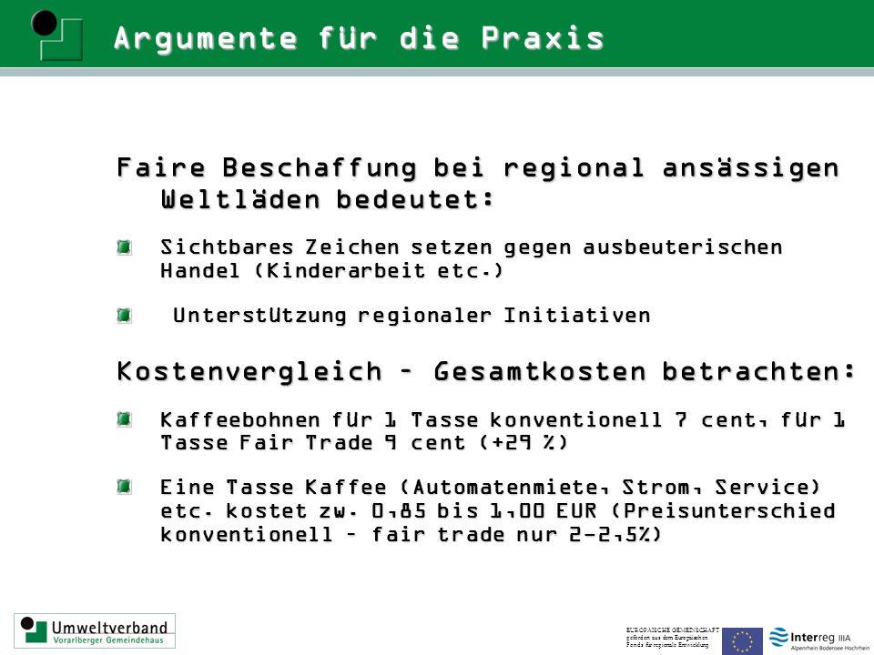 Argumente für die Praxis Faire Beschaffung bei regional ansässigen Weltläden bedeutet: Sichtbares Zeichen setzen gegen ausbeuterischen Handel (Kindera
