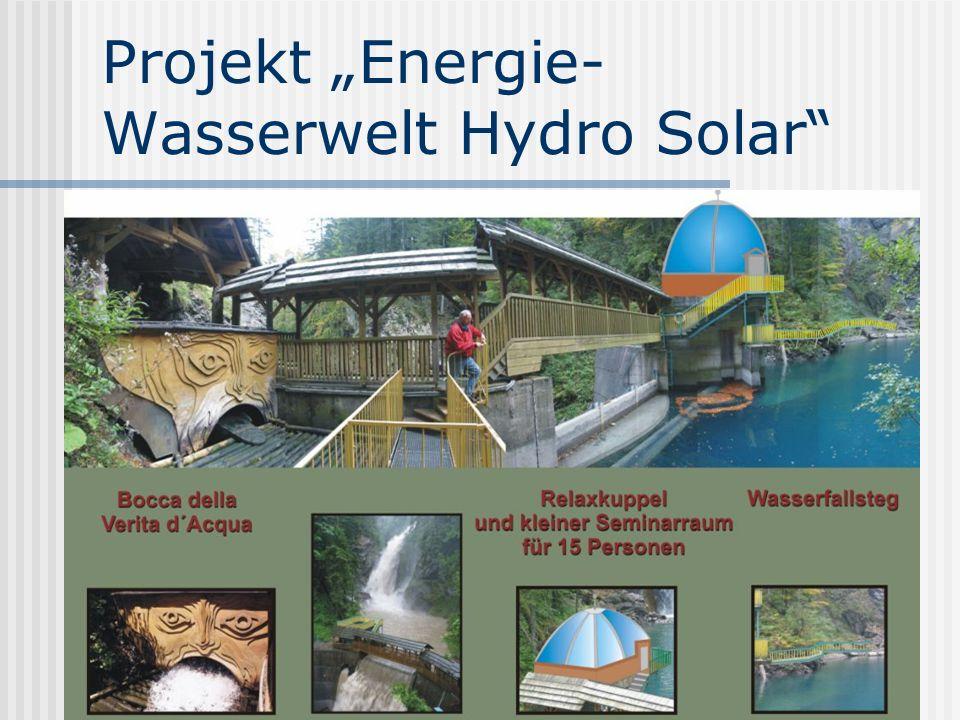Projekt Energie- Wasserwelt Hydro Solar