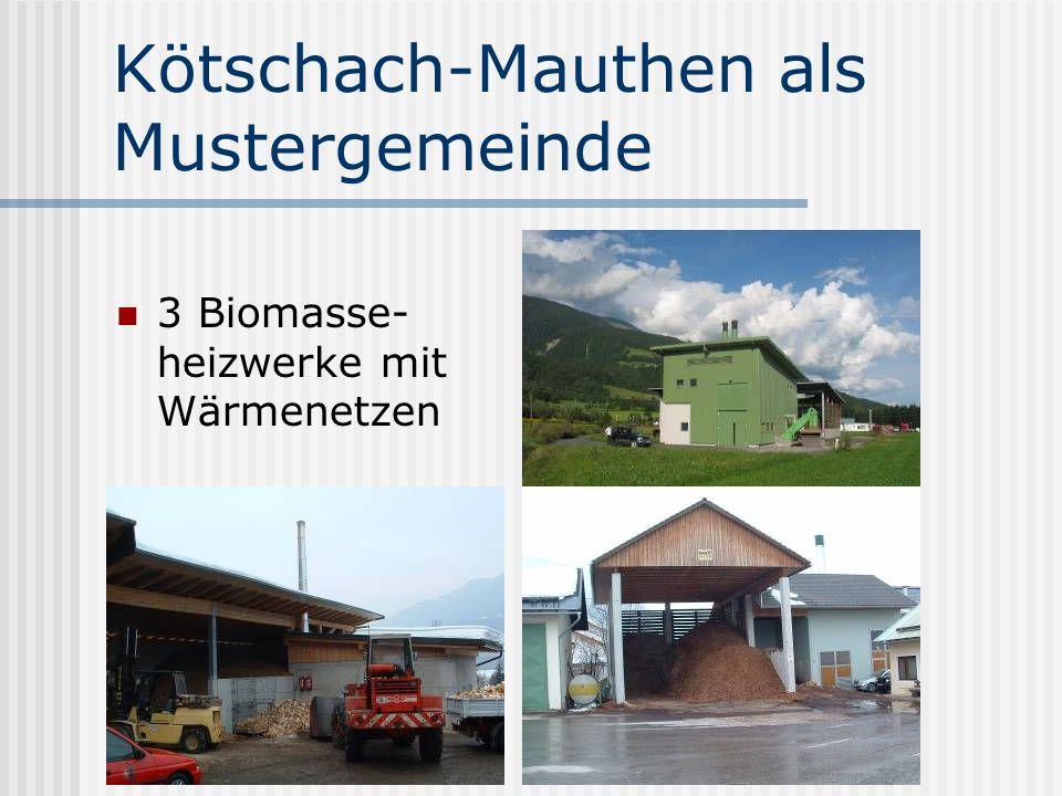 Kötschach-Mauthen als Mustergemeinde Biogasanlage Windturbine Ortseigenes Stromnetz