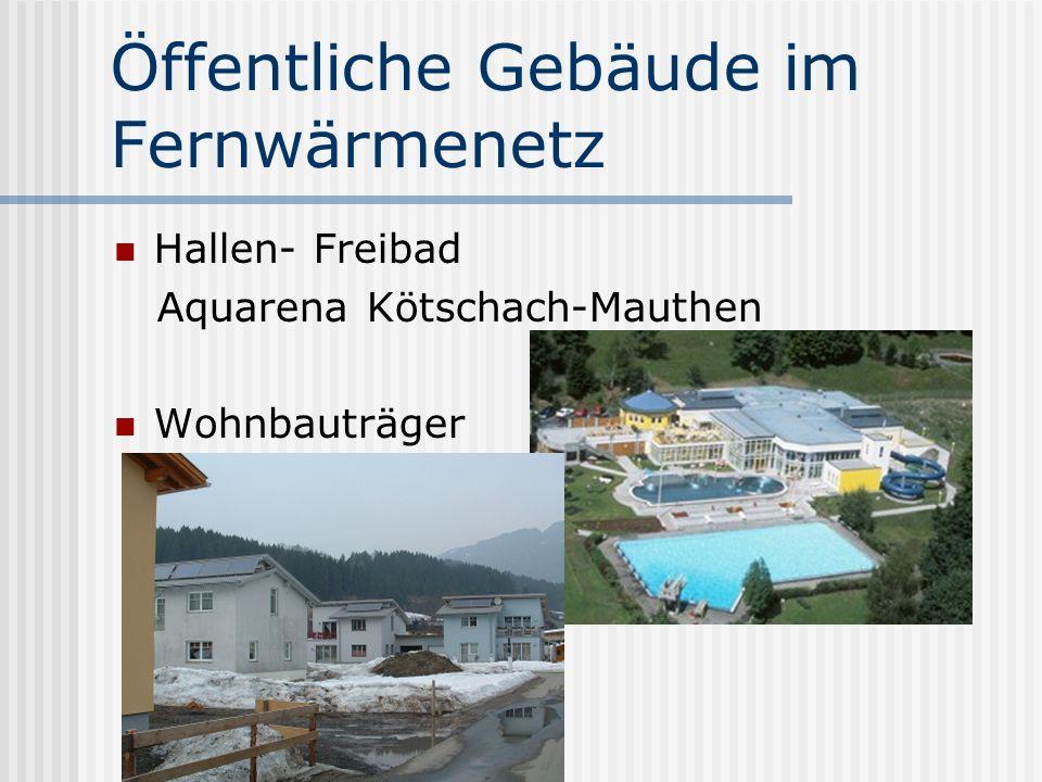 Öffentliche Gebäude im Fernwärmenetz Hallen- Freibad Aquarena Kötschach-Mauthen Wohnbauträger