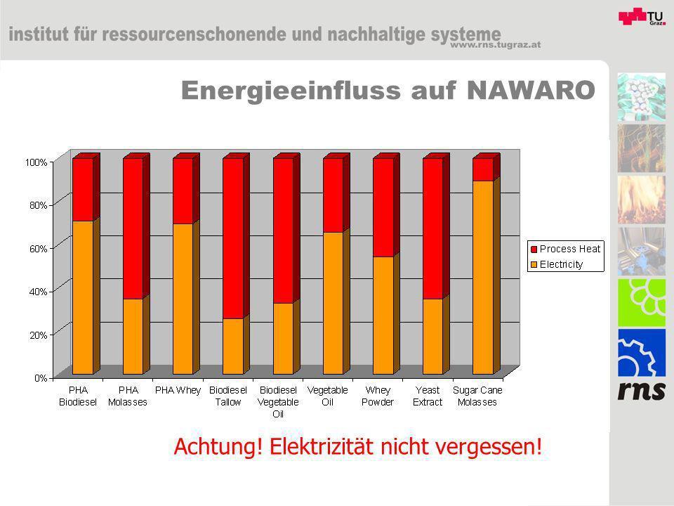 Energieeinfluss auf NAWARO Achtung! Elektrizität nicht vergessen!