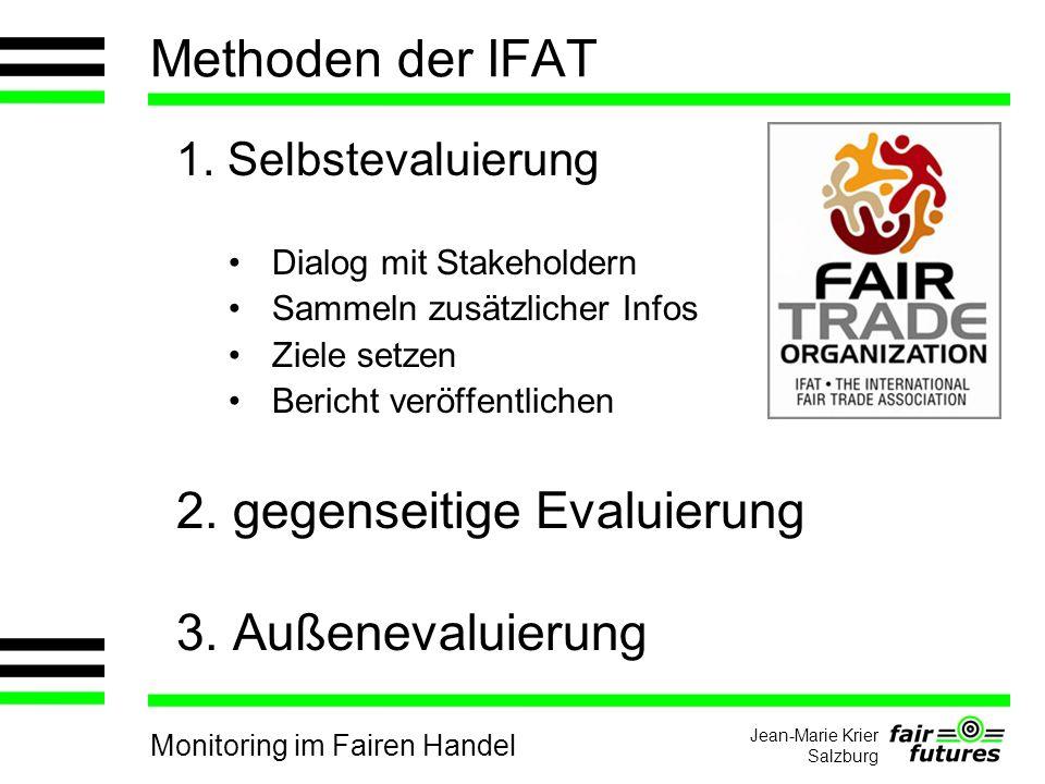 Monitoring im Fairen Handel Jean-Marie Krier Salzburg Methoden der IFAT 1.