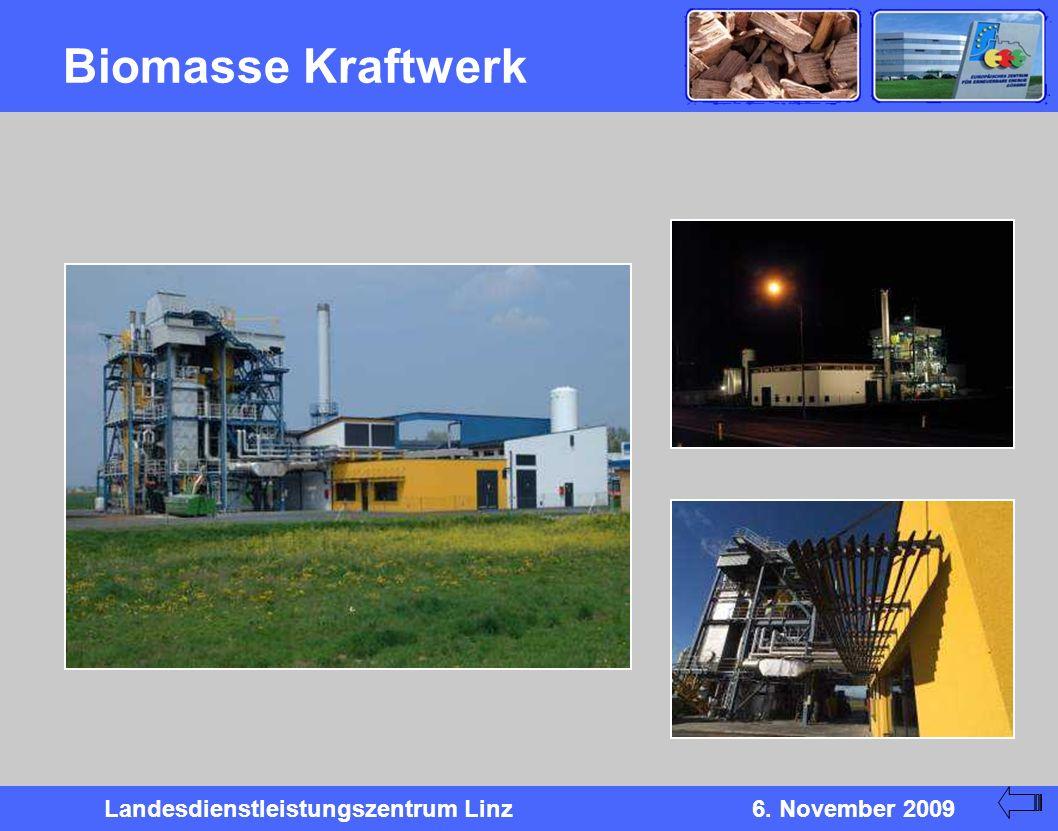 Landesdienstleistungszentrum Linz6. November 2009 Biomasse Kraftwerk