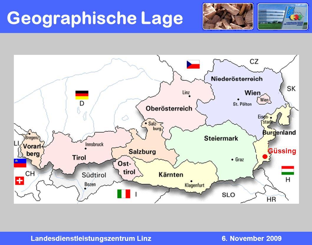 Landesdienstleistungszentrum Linz6. November 2009 Geographische Lage Güssing