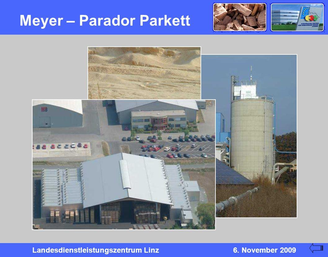 Landesdienstleistungszentrum Linz6. November 2009 Meyer – Parador Parkett