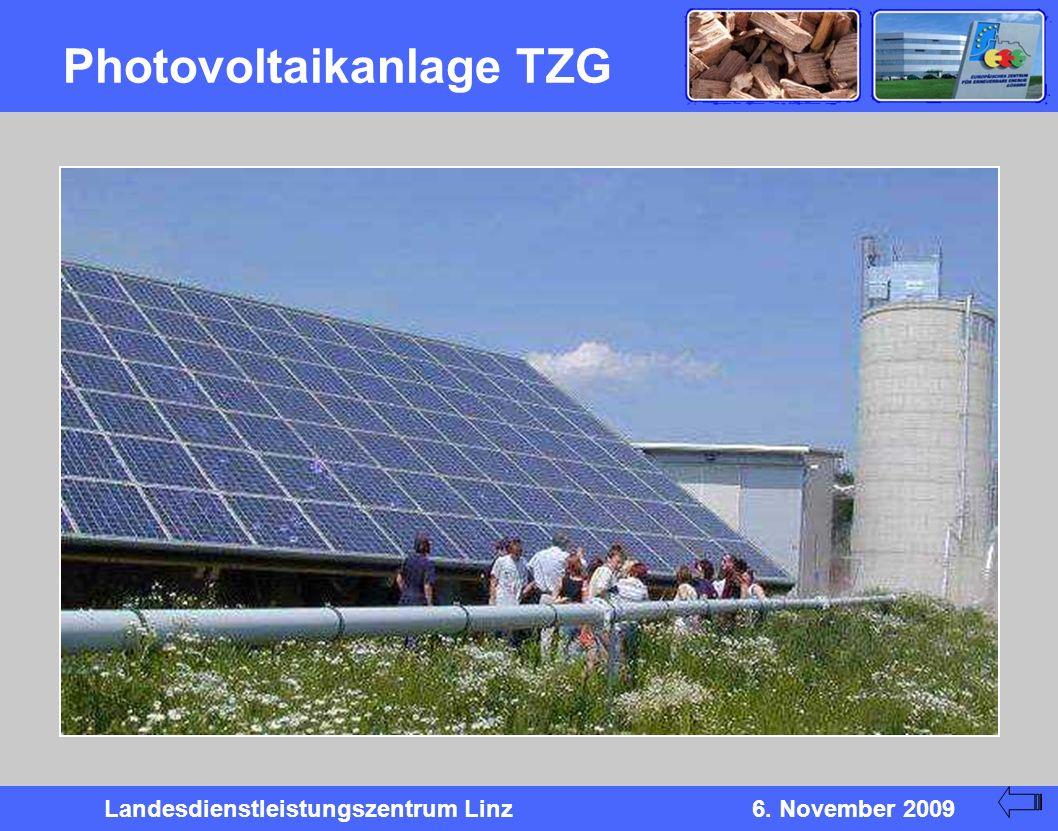 Landesdienstleistungszentrum Linz6. November 2009 Photovoltaikanlage TZG