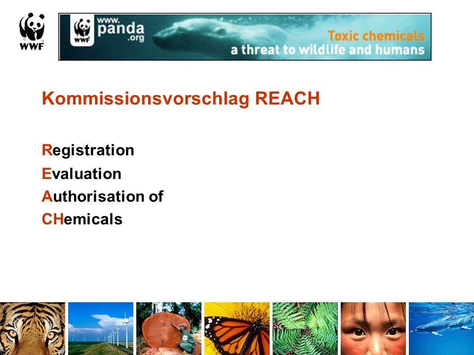 Kommissionsvorschlag REACH Registration Evaluation Authorisation of CHemicals