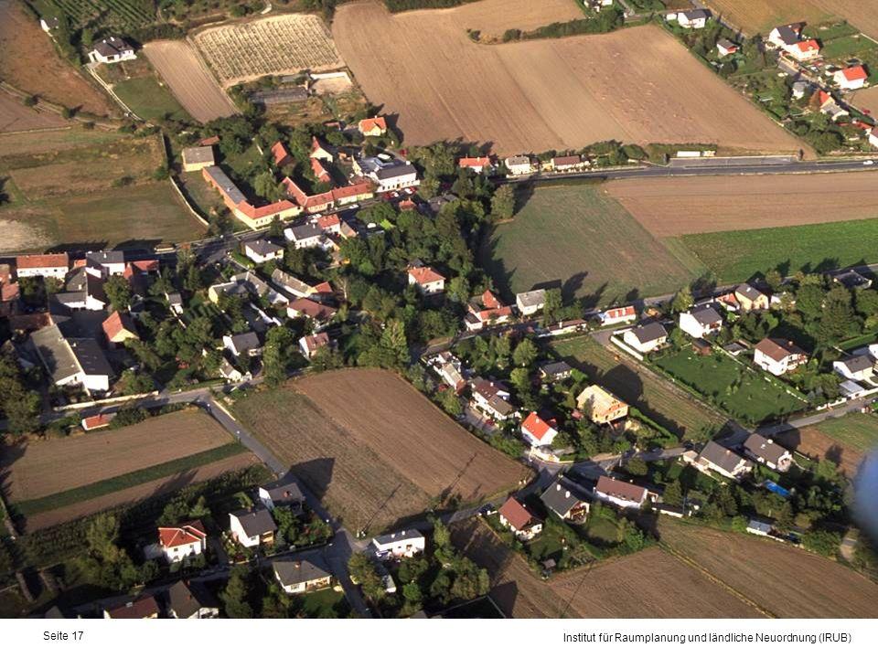 Universität für Bodenkultur Wien Department für Raum, Landschaft und Infrastruktur Institut für Raumplanung und ländliche Neuordnung (IRUB) Seite 17