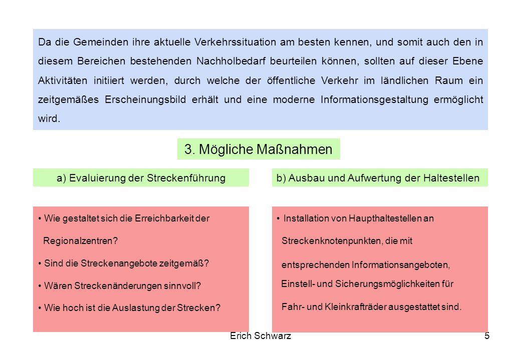 Erich Schwarz6 Die derzeit verfügbaren Informationen sind nur für einen geringen Teil der möglichen Nutzer, wie Pendler oder Personen die auf den öffentlichen Verkehr angewiesen sind, ausreichend.