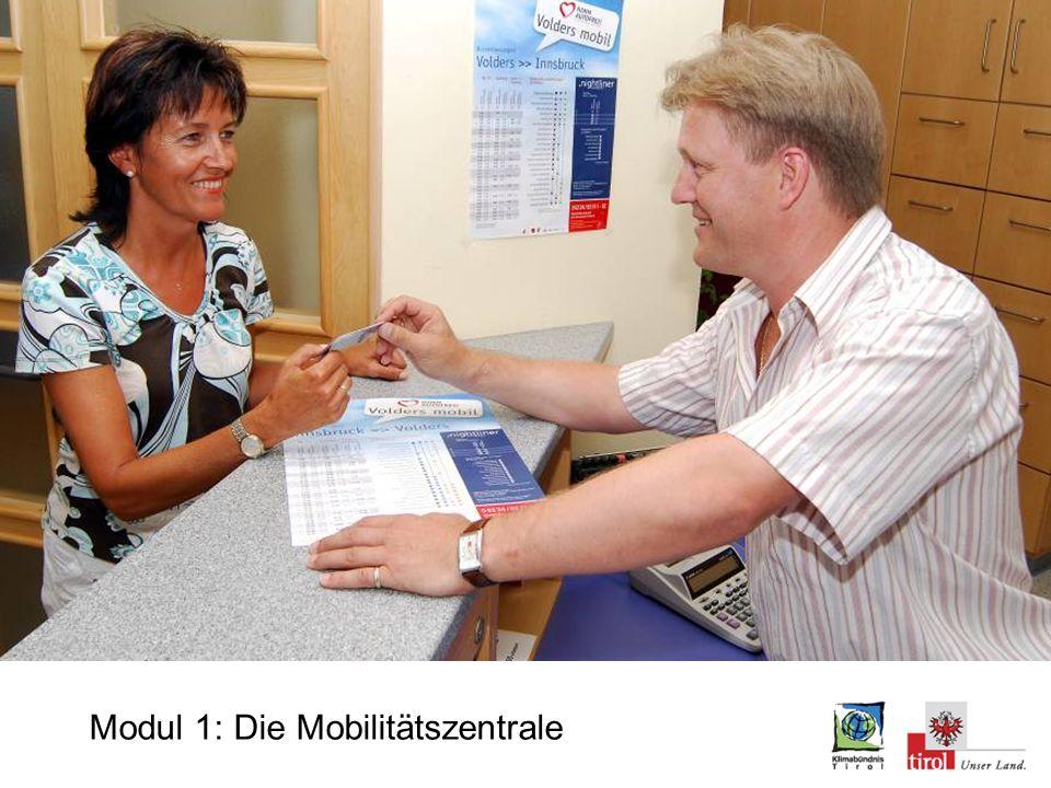 Modul 1: ÖPNV Mobilitätsausku nft am Gemeindeam t Modul 1: Die Mobilitätszentrale