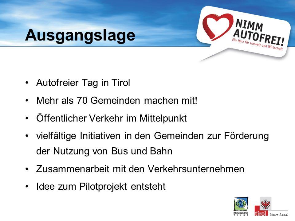 Ausgangslage Autofreier Tag in Tirol Mehr als 70 Gemeinden machen mit.