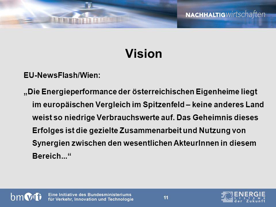 11 Vision EU-NewsFlash/Wien: Die Energieperformance der österreichischen Eigenheime liegt im europäischen Vergleich im Spitzenfeld – keine anderes Land weist so niedrige Verbrauchswerte auf.
