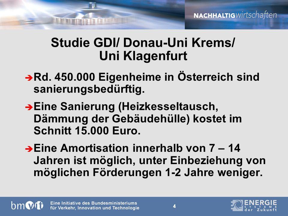 4 Studie GDI/ Donau-Uni Krems/ Uni Klagenfurt è Rd.
