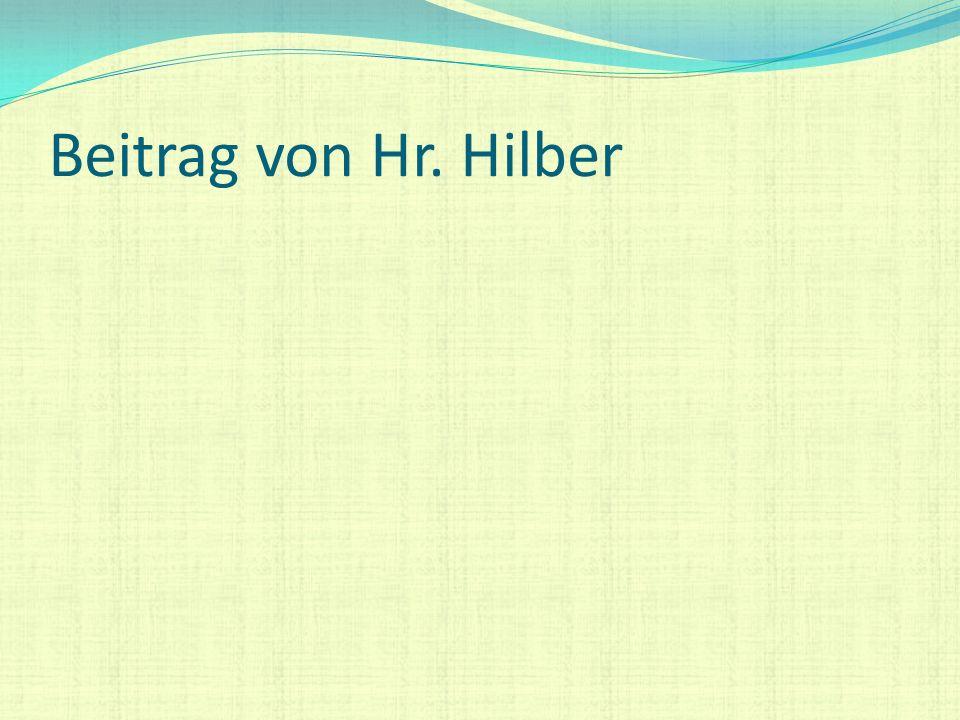 Beitrag von Hr. Hilber