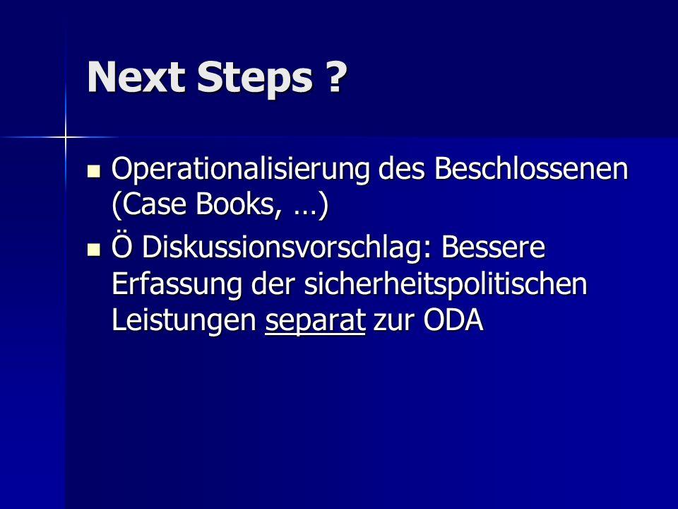 Next Steps .